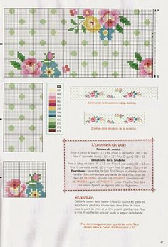 ♥ My Cross Stitch Graphics ♥: Barrado Romantic: Small Flowers in Point … - Black Red Designs Cross Stitch Pillow, Cross Stitch Love, Cross Stitch Borders, Cross Stitch Flowers, Cross Stitch Charts, Cross Stitch Designs, Cross Stitching, Cross Stitch Patterns, Diy Embroidery