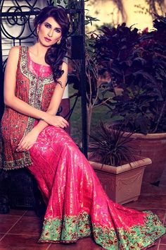 2642443b3d Beautiful collection named as Umsha by Uzma Babar for bridal 2015 released  recently