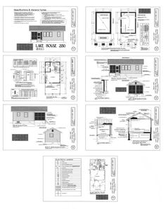 A great small cabin with floor plan and info. Lake House -- 280 sq ft Prefab House