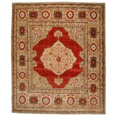 Turkish Sivas Square Rug | From a unique collection of antique and modern turkish rugs at http://www.1stdibs.com/furniture/rugs-carpets/turkish-rugs/