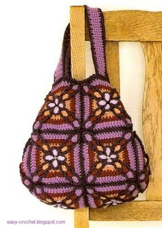 Luxury Handbag For Women - Free Crochet Diagram - (easy-crochet.blogspot)