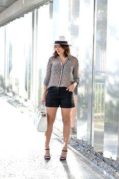 DVF gingham blouse v