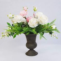The right vase can help compliment your style while providing both color and texture to your room. Shop our wide selection of rustic vases and find the one you will absolutely love. Flower Centerpieces, Flower Vases, Rustic Vases, Fresh Flowers, Artificial Flowers, Compliments, Your Style, Display, Texture