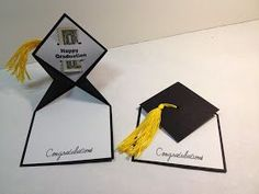 "I saw this Graduation Card on Pinterest, but was unable to find any instructions on how it was made.  After an evening of ""playing"" I finall..."