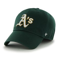 check out e96e1 464c3 Oakland Athletics 47 Brand Franchise Green White Yellow Trim Logo Road Hat  Cap