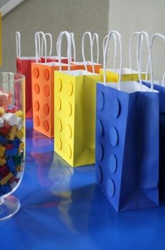 Lego Gift Wrapping 2have2host Diy Birthday Party Ideas Favors