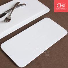 Porcelain 10.7 ceramic plate rectangular sushi flat plate white cake pan western-style dish
