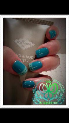 Biosculpture nails Turquoise teacup
