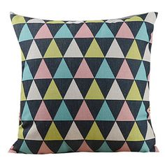 Modern Triangle Jointing Lump Decorative Pillow Cover – AUD $ 19.40