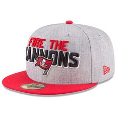 Tampa Bay Buccaneers New Era Youth 2018 NFL Draft Official On-Stage 59FIFTY  Fitted Hat – Heather Gray Red b043b15e0