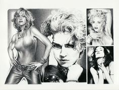 MADONNA ORIGINAL SKETCH PRINTS - POSTER SIZE - BLACK & WHITE - FEATURES MADONNA COLLAGE. PRINT OF HIGHLY-DETAILED, HANDMADE DRAWING BY ARTIST MIKE DURAN   http://citymoonart.com/madonna-original-sketch-prints-poster-size-black-white-features-madonna-collage-print-of-highly-detailed-handmade-drawing-by-artist-mike-duran/