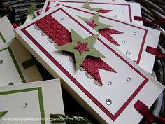 Christmas Gift Box, Stampin Up Christmas, Noel Christmas, Christmas Paper, Handmade Christmas, Christmas Crafts, Xmas Greetings, Christmas Greeting Cards, Holiday Cards