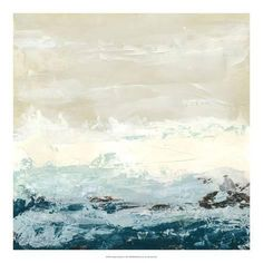 "Abstract coastal painting, canvas print - ""Coastal Currents l"" by June Vess available at Great BIG Canvas. Seascape Paintings, Oil Painting Abstract, Painting Frames, Painting Prints, Art Prints, Painting Canvas, Abstract Art, Canvas Wall Art, Canvas Prints"