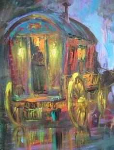Gypsy Caravan, painting by Leon Goodman ~ <3<3