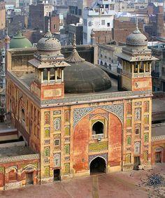 Lahore Old City Wazir Khan Mosque. Pakistan