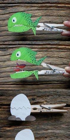 clothespin fun kinderen vinden dit geweldig leuk