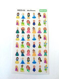 DECO-02 Mini Princess Planner Stickers