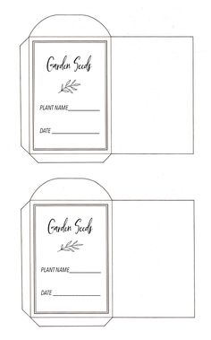 seedpackets first one 2 per page copy. Garden Seeds, Planting Seeds, Crop Production, Craft Packaging, Garden Journal, Garden Guide, Seed Packets, Farm Gardens, Easy Garden