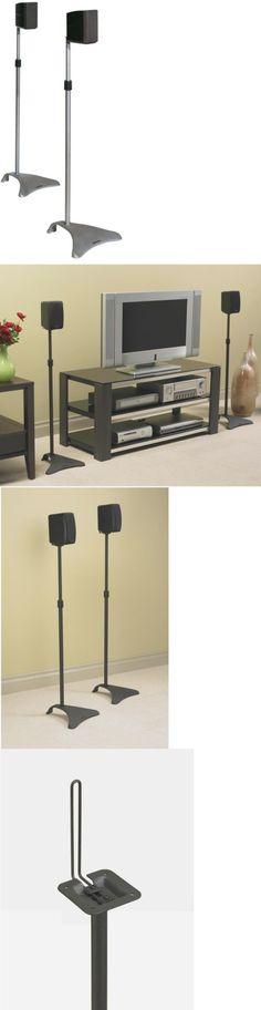 Speaker Mounts and Stands Pair Speaker Stands Black Surround