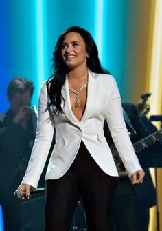 Demi Lovato performing at the Grammy Awards - February 15th