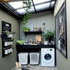 7 Small Laundry Room Design Ideas - Des Home Design Outdoor Laundry Rooms, Tiny Laundry Rooms, Laundry Room Design, Laundry Decor, Laundry Baskets, Design Kitchen, Outside Laundry Room, Small Laundry Area, Laundry Shelves