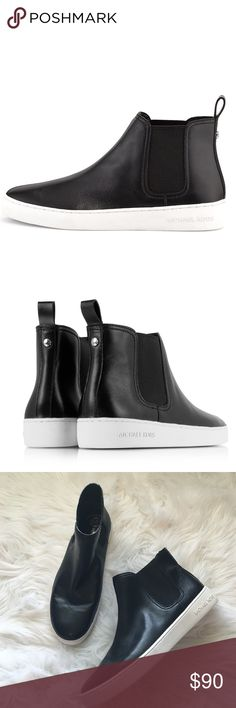 Michael Kors High Top Slip On Sneakers So chic and perfectly on trend! Excellent pre worn condition, no noticeable rips or flaws. No trades!! 072216150gwm MICHAEL Michael Kors Shoes Sneakers