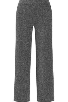MISSONI Cropped metallic knitted straight-leg pants. #missoni #cloth #pants