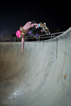 Beverly Flood grabs a backside air at Lake Cunningham Regional Skatepark in San Jose, CA. Photo: Todd Fuller