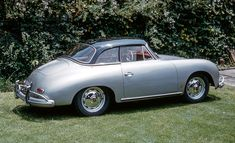 A rear three-quarter view of the 356 A 1600 Super Cabriolet in 1961 Porsche Club, Porsche 356, Vw Engine, Vw Beetles, Formula One, Carrera, Grand Prix, Two By Two, Autos