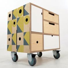Modular furniture concept made from Birch Plywood - Play Play Pattern
