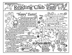 """""""Hoppy Easter"""" - Enjoy an Easter-themed Two-Page Activity Set and Crossword Puzzle with this discounted bundle! Includes the following products: • Hoppy Easter (Traditions) Two-Page Activity Set • 'Egg'stra Special (Easter Eggs) Crossword Puzzle"""