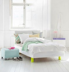 my scandinavian home: Nordic pastels and neons / interior decorators ideas interior design de casas Neon Bedroom, Home Bedroom, Bedroom Decor, Pastel Bedroom, Dream Bedroom, Neon Bedding, Bedding Sets, Piece A Vivre, Ikea Furniture