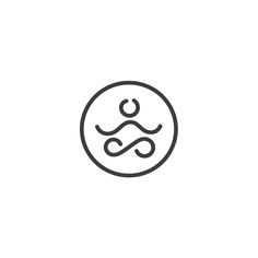 #logo #logotype #circle #web #yoga #people #creative #app #sign #mark #health #body #meditation #relax #mind #body #head #brain #intelligent #logoexcellent #minimal #clean #brand #branding #vector #art #icon #logoinspire #logoinspiration