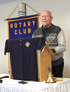 Clare Thompson shares stories from the club's past | Rotary club of Dryden