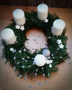 Christmas Advent Wreath, Christmas Food Gifts, Handmade Christmas, Christmas Candle Holders, Christmas Centerpieces, Christmas Decorations, Holiday Decor, Christmas Makes, Christmas Time