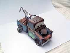 """Construct and Play"" - Paper Mechanics - I was the paper engineer designing and applying artwork to all CARS characters in this Funtastic publication."
