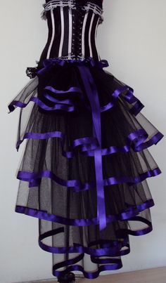 Black Purple  Burlesque Steampunk Bustle Belt by thetutustoreuk, $50.00