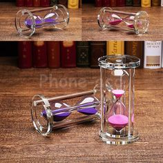 Acrylic Crystal Sand Glass Timer Sandglass Hourglass Clock Time Home Decor Gift