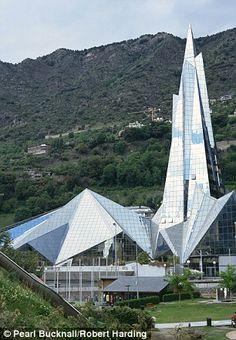 The impressive Caldea mountain spa, in Andorra la Vella