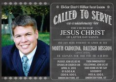 5x7 LDS Missionary Announcement and Invitation by MabelStreet, $8.50