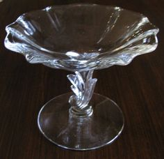 Vintage Fostoria Baroque Pedestal Dish by ToadSuckTreasures Fostoria Glassware, Fostoria Crystal, Antique Glassware, Etsy Vintage, Vintage Shops, Small Desserts, Candied Nuts, Glass Collection, Candy Dishes