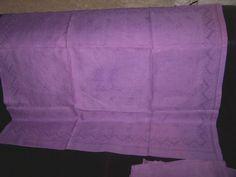 8 serviettes anciennes damassées monogramme