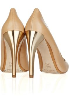 Kors Michael Kors nude patent pumps with Gold Heels - Bridal Shower