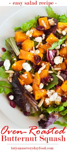 Butternut Squash Salad with goat cheese and honey-mustard dressing ...