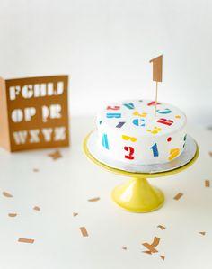 DIY ABC Stencil Cake | Handmade Charlotte