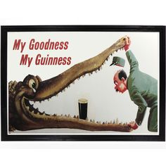 Guinness Crocodile Poster