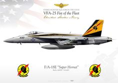 """UNITED STATES NAVY Strike Fighter Squadron TWO FIVE (VFA-25) """"Fist of the Fleet"""" F/A-18E """"Super Hornet"""" CAG 400 VFA-25 JP-1376"""