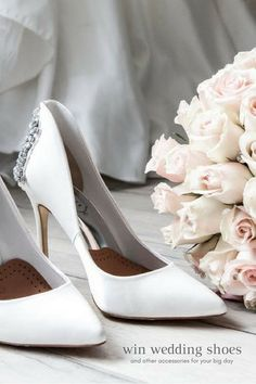 Win free white wedding heels and more with wedding contests and free wedding giveaways! Get white wedding heels free by entering contests. Learn where to enter free wedding contests to get pretty wedding accessories, free wedding dresses, and free honeymoons.:
