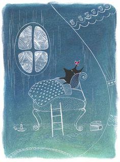 """Children's book illustration """"The little wolf"""" by Katharina Ortner, via Behance"""