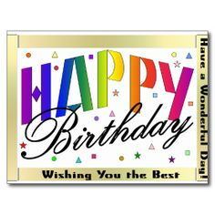 >>>Are you looking for          Happy Birthday Postcard           Happy Birthday Postcard you will get best price offer lowest prices or diccount couponeHow to          Happy Birthday Postcard Review from Associated Store with this Deal...Cleck Hot Deals >>> http://www.zazzle.com/happy_birthday_postcard-239915728529263325?rf=238627982471231924&zbar=1&tc=terrest